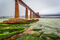 Bridge firth of forth in autumn scotland Royalty Free Stock Images