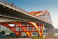 Bridge foshan dongping is a combination system is a reinforced concrete continuous girder and steel box arch Stock Photo