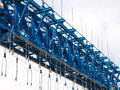 Bridge girder erection machine for highway and railway construction Royalty Free Stock Images