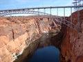 Bridge by Glen Canyon Dam Royalty Free Stock Photo