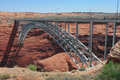 Bridge at Glen Canyon Dam near Page, Arizona Royalty Free Stock Photo