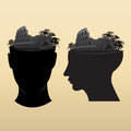 Bridge on head design icon Royalty Free Stock Photos