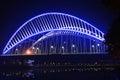 rope bridge  LED light Royalty Free Stock Photo