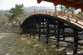 Bridge at Itsukushima Shrine Royalty Free Stock Photos