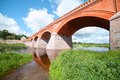 Bridge in Kuldiga, Latvia. Stock Images