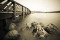 A bridge by a lake Royalty Free Stock Photo