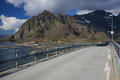 Bridge on Lofoten in Norway Royalty Free Stock Photo