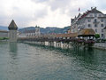 Bridge in lucerne city is a north central switzerland the german speaking portion of that country is the capital of the canton Royalty Free Stock Photos