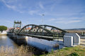 Bridge of metal structure Stock Image