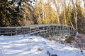 Bridge in mission creek the winter kelowna bc canada Royalty Free Stock Image