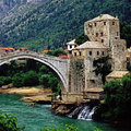 Bridge mostar bosnia herzegovina Royalty Free Stock Photography