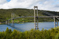 Bridge in the mountains in Norway Royalty Free Stock Images