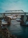 Bridge at myvatn lake in iceland north Royalty Free Stock Photography