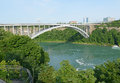 Bridge near niagara falls bordering canada and new york state usa Stock Images
