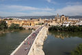 Bridge and old town of cordoba ancient the andalusia spain Stock Photography
