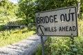 Bridge Out Sign - McClellan Co...