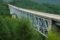 Bridge over canyon Royalty Free Stock Photo