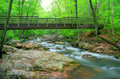 Bridge over Creek Royalty Free Stock Photos