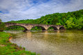 Bridge over cumberland river stone at falls state resort in kentucky Stock Photos