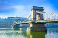 Bridge over Danube, Budapest Royalty Free Stock Photo