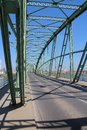 Bridge over Danube river in Komarno Royalty Free Stock Photo