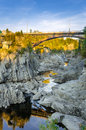 Bridge over a Gorge at Sunset Royalty Free Stock Photo
