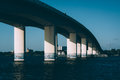 Bridge over the Halifax River in Daytona Beach, Florida. Royalty Free Stock Photo