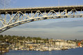 Bridge over Lake Union Royalty Free Stock Image