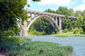 The bridge over little miami river near landon ohio Stock Photos