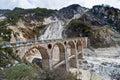 Bridge over a Marble Mine Royalty Free Stock Photos
