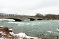 Bridge over the niagara river in winter Stock Images