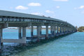 The bridge over the ocean. Road to Key West Royalty Free Stock Photo