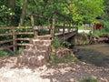 Bridge over the river Dove. Royalty Free Stock Photo