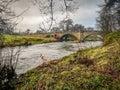 Bridge over the river Dove, Doveridge, Derbyshire Royalty Free Stock Photo