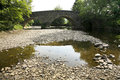 Bridge over the river exe somerset on exmoor Royalty Free Stock Photo