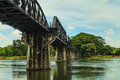 Bridge over river kwai in kanchanaburi thailand Stock Image