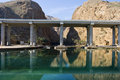 Bridge over river in Oman Royalty Free Stock Photos