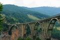 Bridge over the River Tara Canyon. Montenegro. Royalty Free Stock Photo
