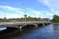 Bridge over the river vuoksa in imatra finland Royalty Free Stock Images