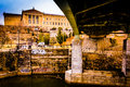 Bridge over the Schuylkill River and the Art Museum in Philadelp Royalty Free Stock Photo