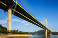 Bridge over the sea suspension in hong kong Stock Photography
