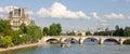 Bridge Over the Seine, Paris France Royalty Free Stock Photo