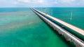 Bridge of Overseas Highway, Florida Royalty Free Stock Photo