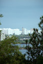 Bridge panoramic kiev kyev ukraine view virtual tour Royalty Free Stock Photo