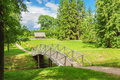 The bridge in park russia Royalty Free Stock Photo