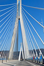 Bridge of Patras city in Greece Royalty Free Stock Photography