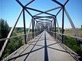 Bridge in perspective Royalty Free Stock Photo