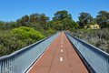 Bridge Perspective at Lake Coogee, Western Australia Royalty Free Stock Photo