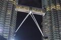 Bridge of Petronas Twin Tower, Kuala Lumpur, Malaysia Royalty Free Stock Photo