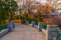 Bridge in Piedmont Park, Atlanta, USA Royalty Free Stock Photo